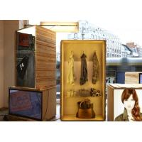 China Eye Catching Window Display Accessories , Visual Marketing AD Wooden Light Box on sale
