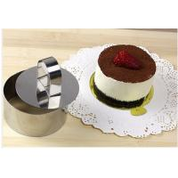 Quality Food Safe Mousse Ring Mold With Pusher , High Temperature Resistance for sale
