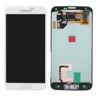 For Samsung Galaxy S5 SM-G900/G900A/G900V/G900P/G900R4 LCD and Digitizer Assembly with Home Button - White - Grade A+ Manufactures