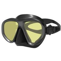 Profession Black Diving Mask Snorkel/diving accessories with tempered glass lens Manufactures