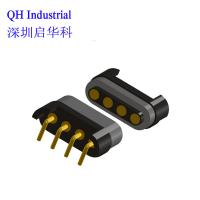 4Pin Hong Kong Cable Connector Magnetic Spring Loaded Connector Magnetic Pogo Pin Cable Connector Manufactures