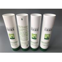 China Med Care Cosmetic Packaging Tubes / Straight Flat Cap Cosmetic Plastic Tube on sale