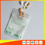 Tablet Drug Packaging Ziplock Pill Bags , Medicine Plastic Bag With Zip Seal Manufactures