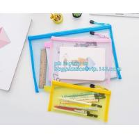 stationery within mesh PVC waterproof zipper document bag/ pvc folder, pp plastic file folder printable document bag Manufactures