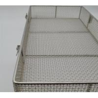 310S Stainless Steel Wire Mesh Medical Disinfect Basket Round / Square Shape Manufactures