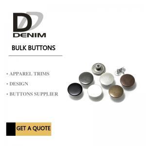 Shank Denim Metal Buttons Dull Dark Anti Copper Nickel Free With Print Logo Manufactures