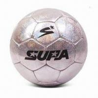 China Handsewn Soccer Ball, Made of Top Grain PU, PVC or Recycled Leather on sale