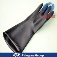 Nature Long Latex Industrial Gloves Black / Green For Industry Field Manufactures