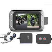 1080P Dual Lens Motorbike DVR with 2 channels input Camera and gps antenna Manufactures