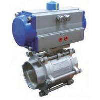 CF8M Socket Weld Pneumatic Operated Valve Pneumatically Operated Control Valve Manufactures