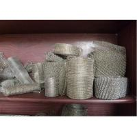 China 304 / 316 Knitted Stainless Steel Wire Mesh 20-700mm Width With Wire 0.01  0.009 on sale
