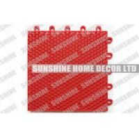 China Red Plastic Interlocking Floor Tiles on sale