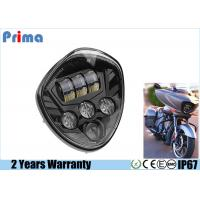 60W Cree Motorcycle LED Headlights High 3450LM Low 2800LM IP67 Waterproof Manufactures