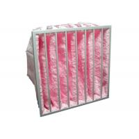HVAC System Glass Fiber Multi - Pocket Air Filter F6 - F8 Efficiency For Greenhouse Manufactures
