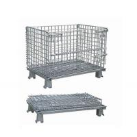 Industrial Rigid Wire Mesh Container Big Size  Large Load Capacity Manufactures