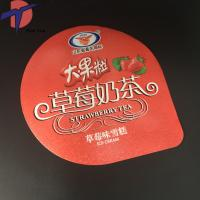 Quality Packaging Aluminium foil milky tea cup sealing lids for sale