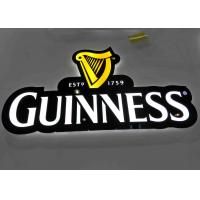 LED illuminated Beer Plexglass Bar Sign For Displaying Beer Customized Logo Shape Manufactures