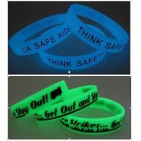 Buy cheap Glow in Dark Silicone Bracelet from wholesalers