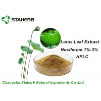 Buy cheap Weight Losing Raw Materials Ingredients Lotus Leaf Extract Nuciferine1%-3% HPLC from wholesalers