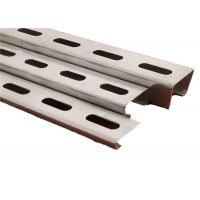 Q235 Galvanized Steel Profile Mounting Stand Racking Brackets For Solar Panel Mount System Manufactures