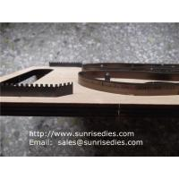 China Indented teeth blade steel cutting dies for shoe insole, indentation rule cutting dies, on sale