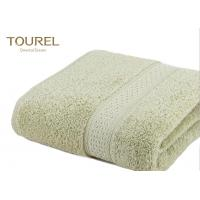 China Comfortable 16/21/32S Cotton Hotel Bath Towels Fabric Grass Green Easy To Dry on sale
