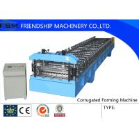 Automatic Corrugated Sheet Roll Forming Machine For 4 mm - 8 mm Steel Panel Manufactures