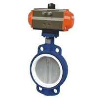 Stainless Steel Wafer Butterfly Valve with Penumatic Actuator Manufactures
