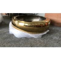 Quality Metal Bowl Sculpture Stainless Steel Full Handmade With Bright Gold Finish for sale