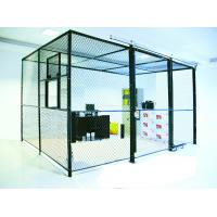 Heavy Duty Two Sides Industrial Storage Cage , Wire Mesh Storage Lockers Full Height Manufactures