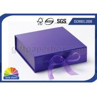 Ribbon Folding Gift Paper Box Customized Luxury Rigid Gift Packing Folded Paper Box Manufactures