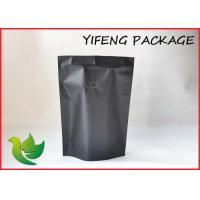 Coffee Zipper Aluminum Foil Bags With Valve , High barrier Bags Manufactures