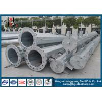 69KV Electrical Power Pole Hot Dip Galvanized Transmission Line Pole Q345 45m Manufactures