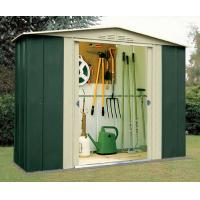 metal shed with galvanized steel sheet/pad lockable sliding double doors Manufactures