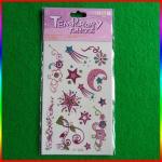 custom glitter tattoo, moon and star glitter powder tattoo stickers Manufactures