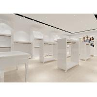 Retail Store Furniture / Children'S Store Fixtures White Lacquer Finished Surface Manufactures