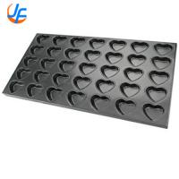Fashionable Aluminum Plated Cupcake Mold / Baking Cake Mold Deep Round Manufactures