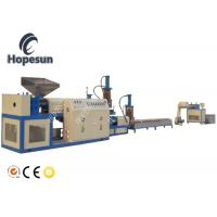 China Double Stage Plastic Pelletizing Machine PE PP Hydralic Screen Changer on sale