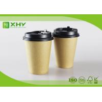 12oz 400ml FDA Certificated Eco-friendly Plain Kraft Brown Single Wall Paper Cups with Lids Manufactures