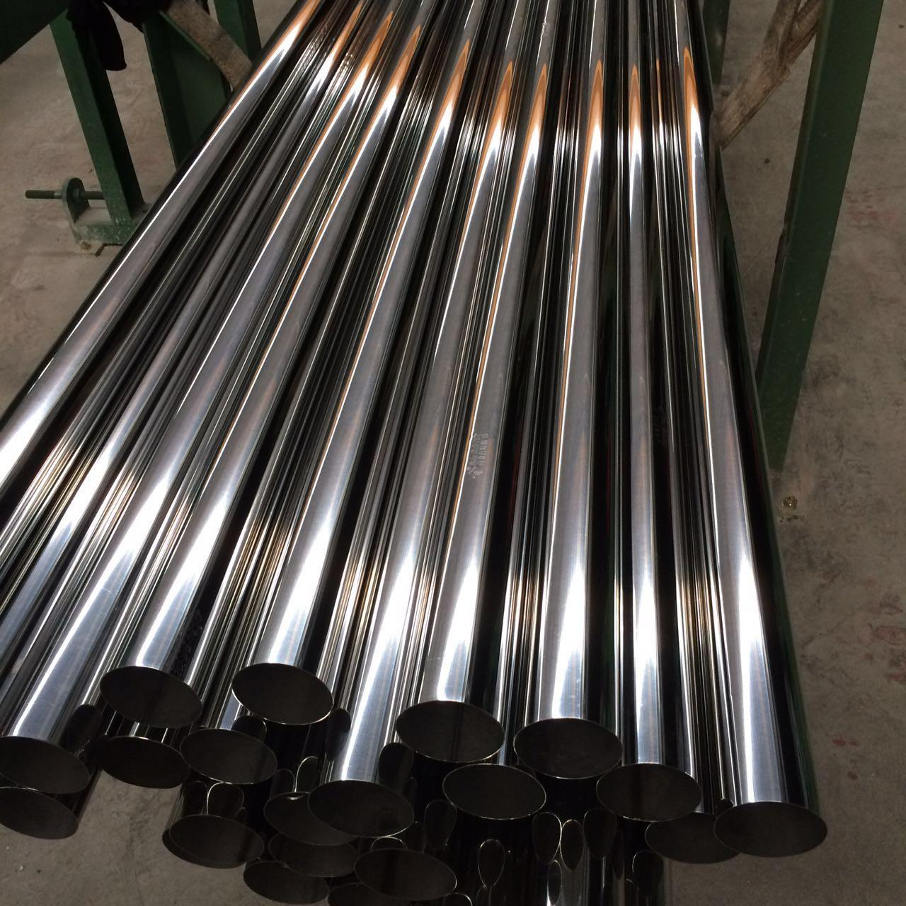 China 304 Stainless Steel Tube Sizes Factory Prices with 6m length polished finish Manufactures