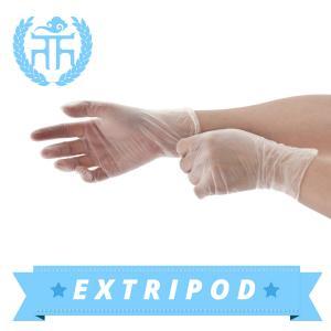 china supplier M3.5g blue powder free vinyl gloves Manufactures