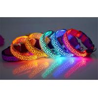 4 Size Flashing Lighted Pet Collars For Dogs , 30-60cm Length Manufactures