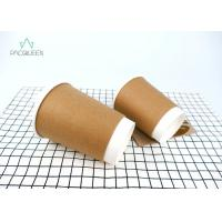 Excellent Insulation Double Paper Cup , Paper Espresso Cups Moisture Proof Manufactures