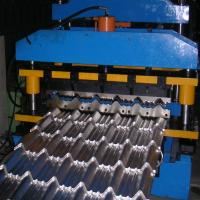 8-12m / Min Roof Panel Roll Forming Machine , Metal Glazed Tile Forming Machine