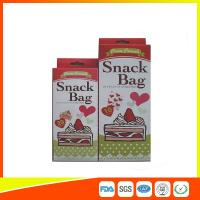 Custom Colored Printed LDPE Reusable Ziplock Snack Bag / Sandwich Bags Manufactures