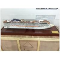 China Ivory White MSC Splendida Cruise Ship Model Speed Boats With ABS Hand Carving on sale