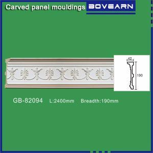 Victorian decor polyurethane interior living room decoration trim 190mm white primed color customized Manufactures