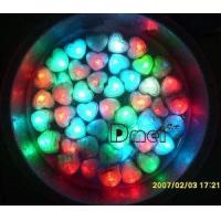 Glow Heart Shaped Water-Activated Flash Ice, LED Cubes for Party Decorations Manufactures