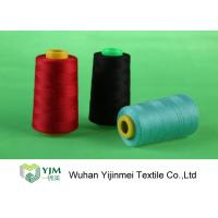 Dyed 100 Spun Polyester Sewing Thread With Plastic / Paper Cone Wear Comfortable Manufactures