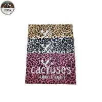 Popular Leopard Custom Embossed Leather Patches Sew On Style 22*22CM Size For Hoodies Manufactures